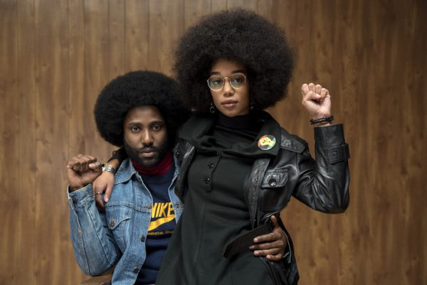 4117_PP_D002_02137_RJohn David Washington stars as Ron Stallworth and Laura Harrier as Patrice in Spike Lee's BlacKkKlansman, a Focus Features release.Credit: David Lee / Focus Features